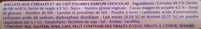 Prince goût chocolat - Ingredients