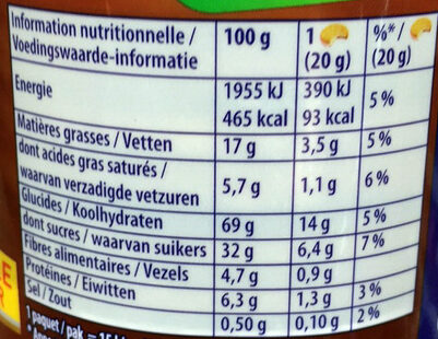 Prince goût chocolat - Informations nutritionnelles - fr