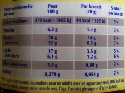 Prince goût chocolat - Nutrition facts