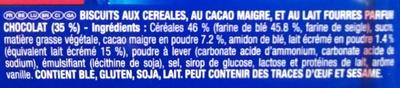 Prince Goût tout choco - Ingrediënten - fr