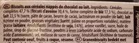 Biscuit Grany Chocolat au lait - Ingrédients - fr