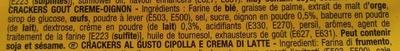 Tuc goût crème-oignon - Ingredienti - fr