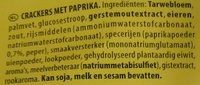 Mini Bites Paprika - Ingredients - nl