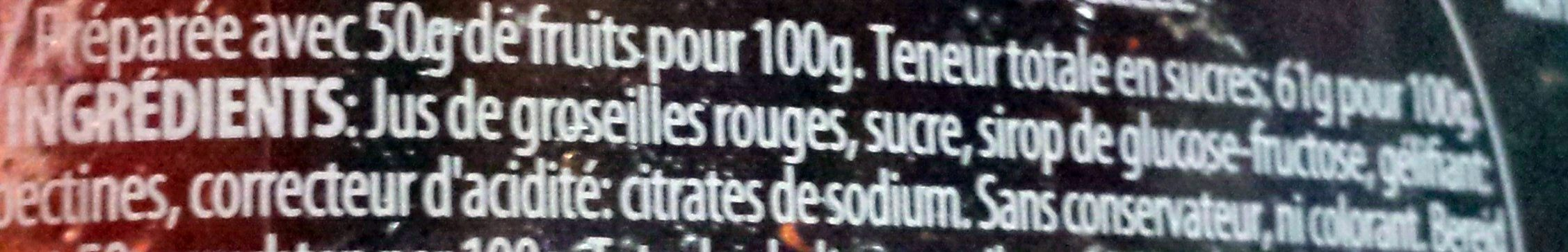 Gelée de groseilles rouges - Ingredients - fr
