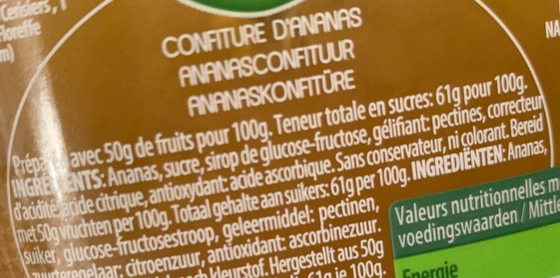 Confiture D'ananas - Ingrediënten - fr