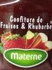 Confiture Fraises & Rhubarbe - Product