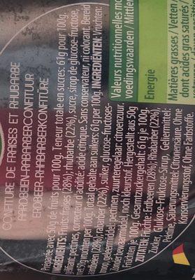 Confiture Fraises & Rhubarbe - Ingrediënten