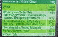 Materne Confiture De Cerises 720 GR - Voedingswaarden - en