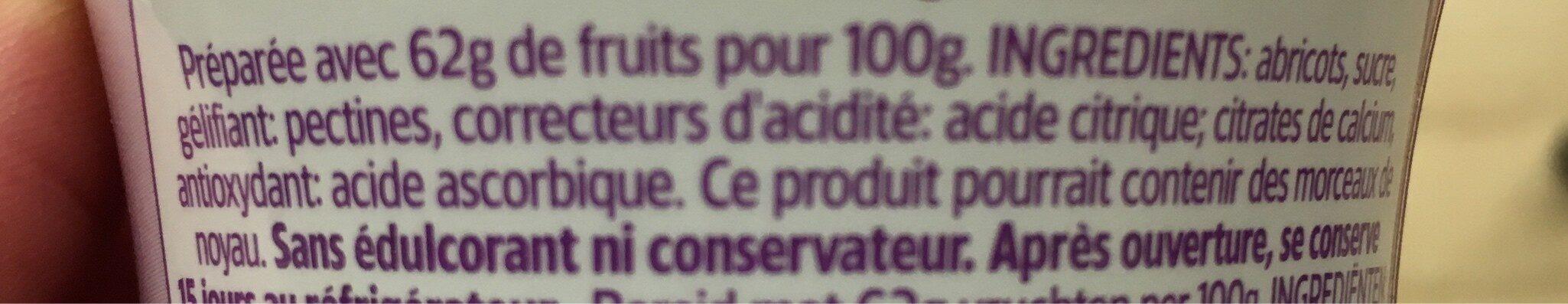 Confiture D'abricots Enjoy - Ingrediënten - fr