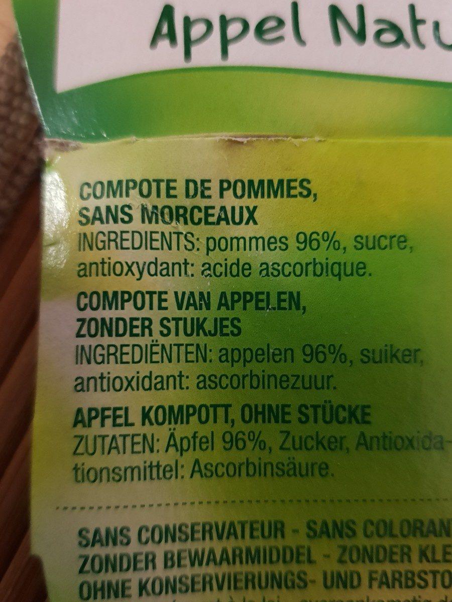 Pomme nature - Ingrediënten - fr