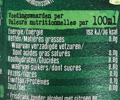 Mojito cocktail sans alcool - Voedingswaarden - fr