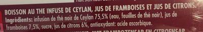 Thé infusé framboise - Ingrédients