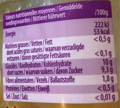 Granité pomme - Voedingswaarden - fr