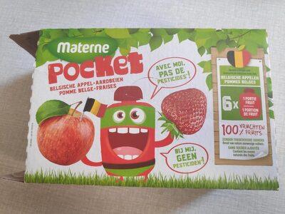 Materne Pocket fraises + pommes belges - Product - fr