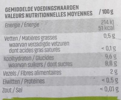Materne Pocket fraises + pommes belges - Voedingswaarden - fr
