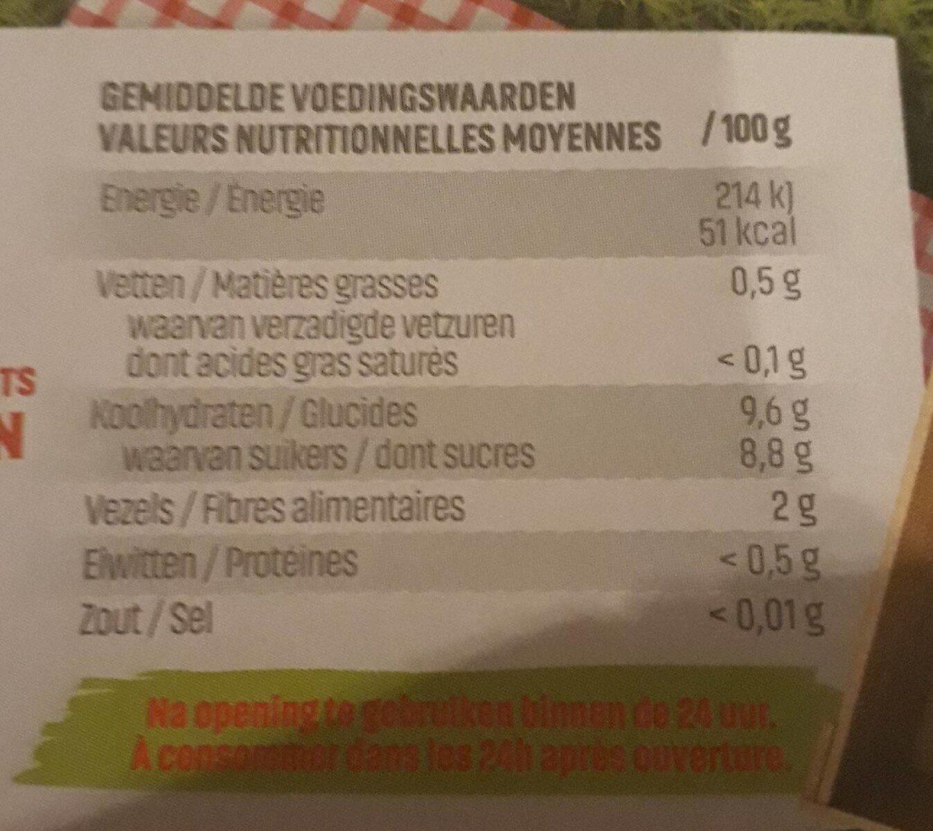 materne pocket fraises - Voedingswaarden - fr