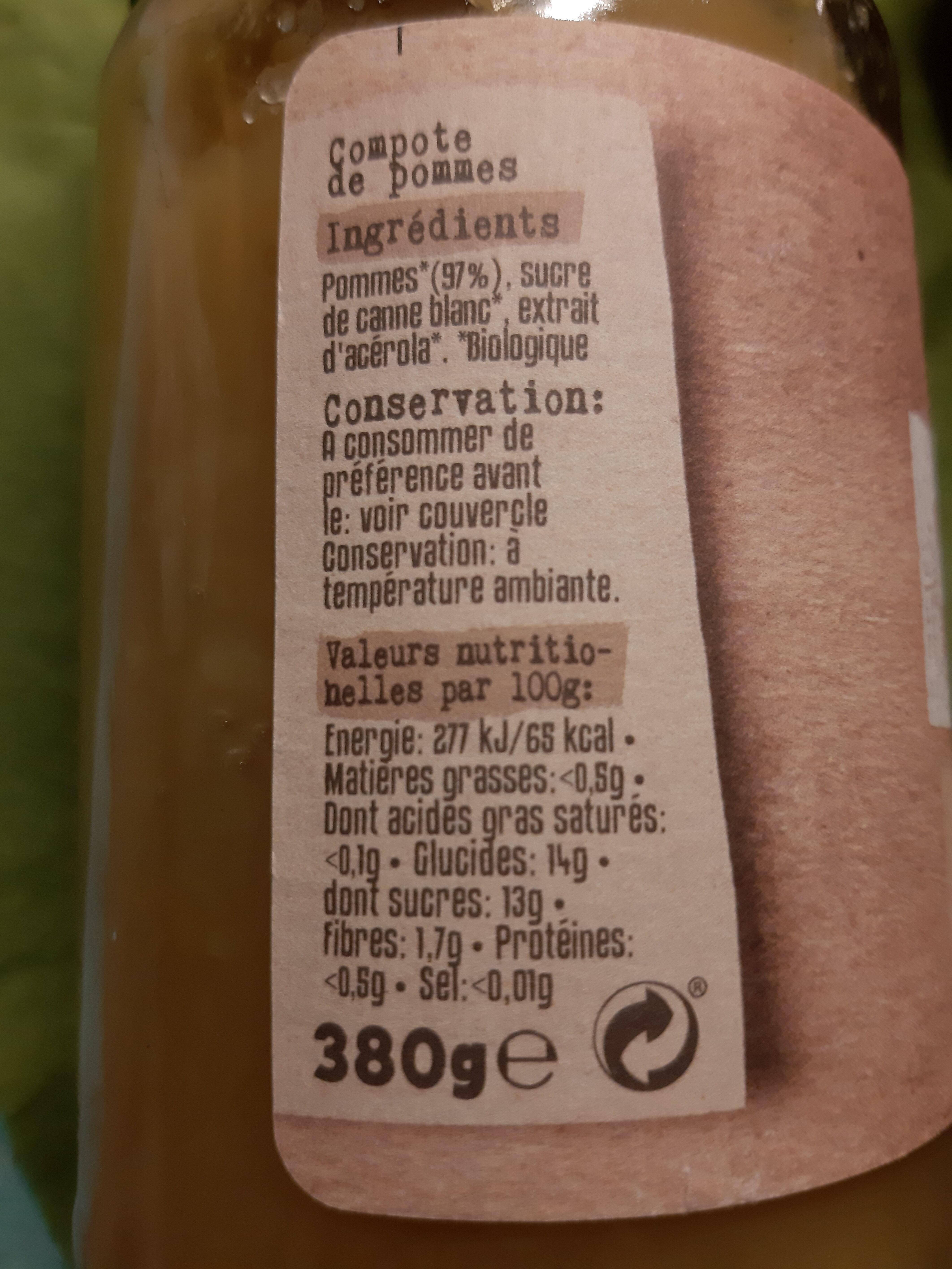 compote de pommes 8avec morceaux - Ingrediënten - fr