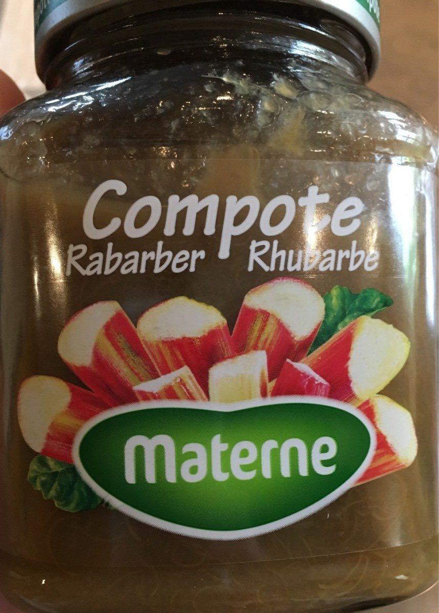 Compote rhubarbe - Produit