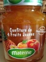 Confiture 4 fruits jaunes - Product - fr