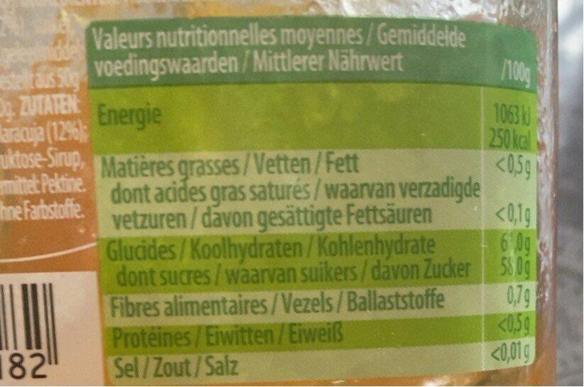 Confiture 4 fruits jaunes - Voedingswaarden - fr