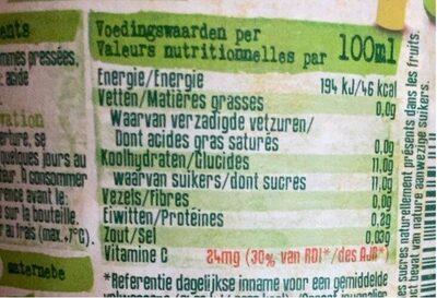 Pommes pressées - Voedingswaarden - fr