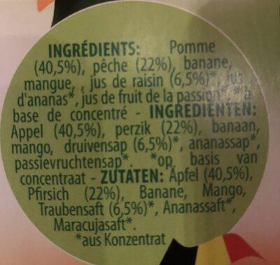 Fruit pocket - Ingrédients