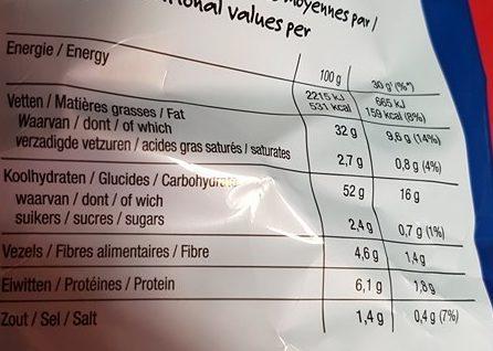 Paprika Flavour - Voedingswaarden - fr