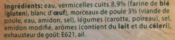 Soupe de Poulet - Ingredients - fr