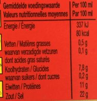 Oxo Bouillon - Nutrition facts - fr