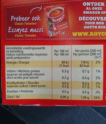 Soupe poulet - Voedingswaarden - nl