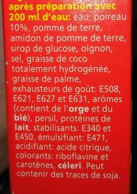 Royco, Poireaux, Lauch - Ingrediënten