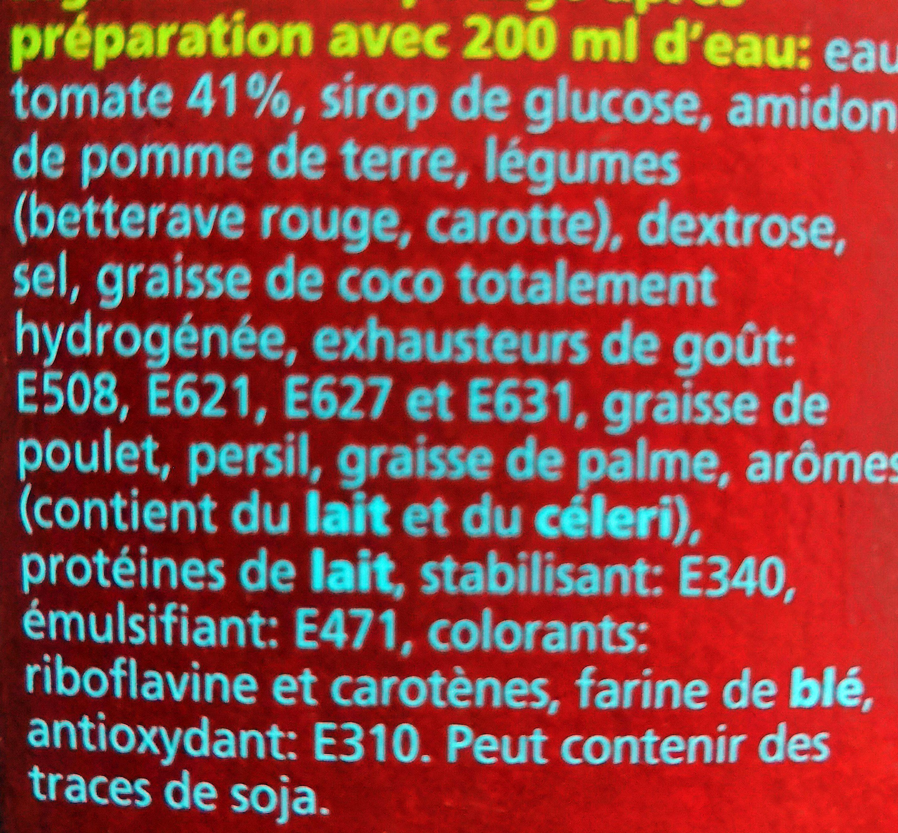 Classic Tomates 25 Sachets - Ingrediënten - fr