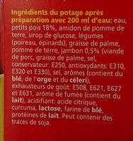 Soupe Royco Pois Cassés Jambon 25 Unités - Ingrediënten