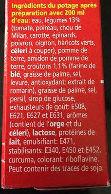 Royco Minutesoep X3 Groenten Supreme - Ingrediënten - fr