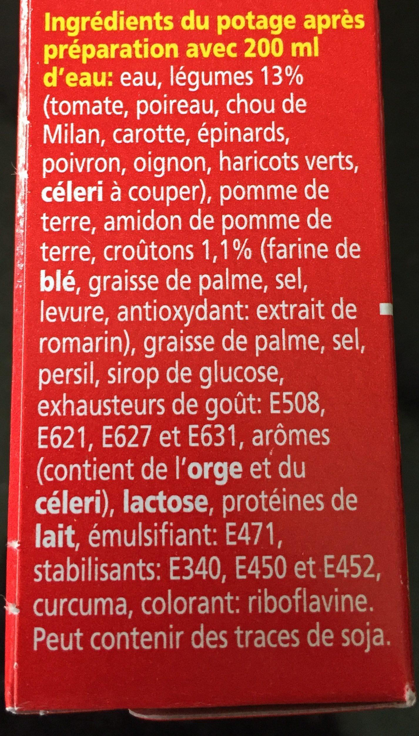 Royco Minutesoep X3 Groenten Supreme - Ingrédients - fr