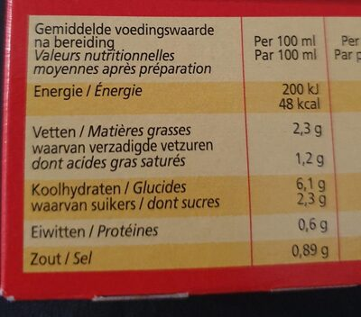 Royco Champions - Informations nutritionnelles