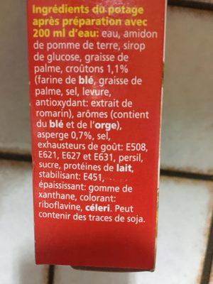 Minute Soup Asperges, Royco Campbell's - Ingrediënten - fr