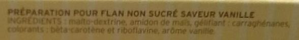 Flan saveur vanille - Ingrédients - fr
