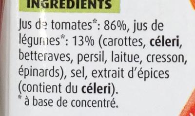 Cocktail de jus de légumes - Ingredients - fr