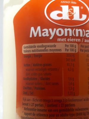 Mayon(n)aise - Informations nutritionnelles