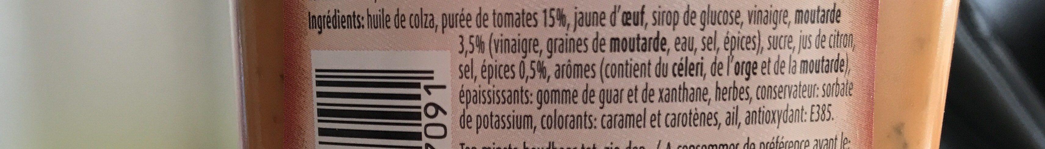 Sauce Andalouse 450ml - Ingrédients