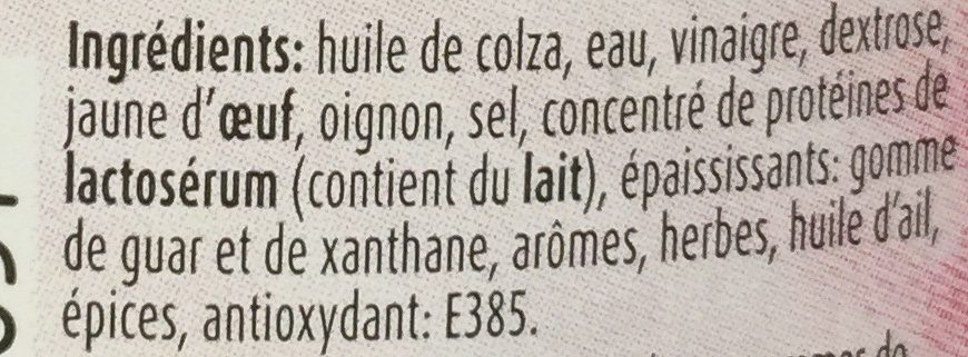 300ML Squeeze Sauce Pita Devos - Ingrédients - fr