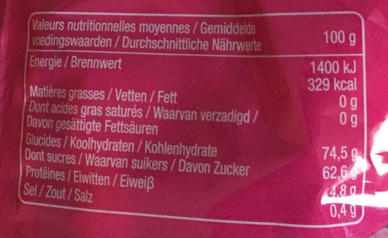 Bubblizz Original - Informations nutritionnelles