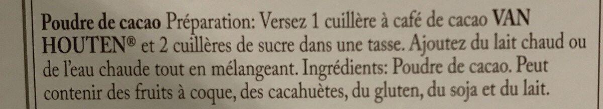 Cacao - Ingrediënten - fr
