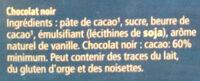 Matinettes Noir 60% - Ingrédients - fr