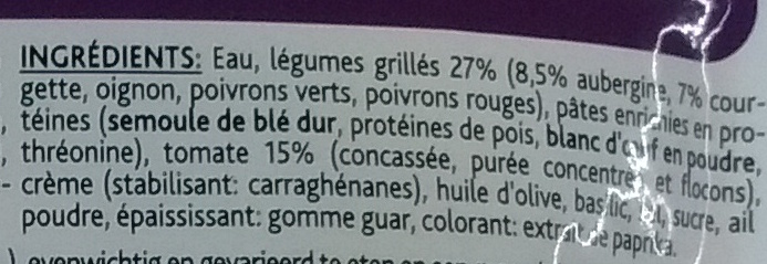 Mon Repas Pâtes Façon Méditerranéenne - Ingrediënten - fr