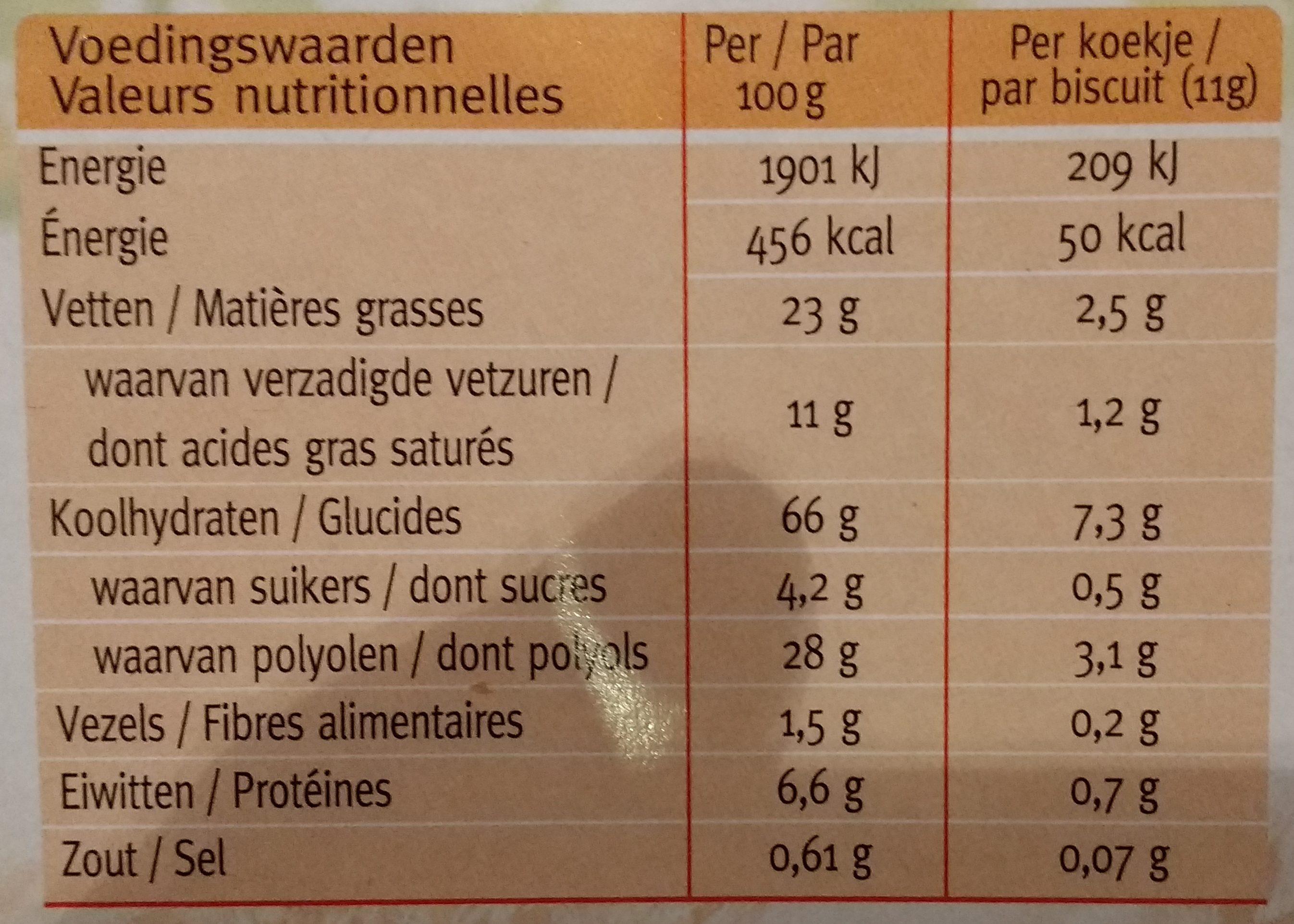 Ceral Sugar Control, Choco Delight White - Voedingswaarden - fr
