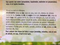 Céréal Miel-châtaigne Biscuits - Ingrédients - fr