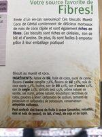 Muesli coco - Ingrediënten