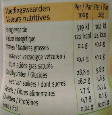 Céréal abricot stevia sweet - Voedingswaarden